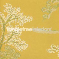 Oriental Tree wallpaper from GP & J Baker - Yellow BW45001-02