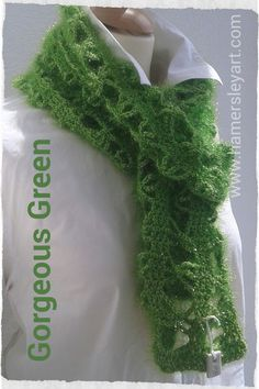 Gorgeous Green With a shimmer 100% polyester By www.hamersleyart.com