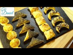 4 schnelle leckere Blätterteig Konfekte / Folge 58 - YouTube Parmesan Chips, Fingerfood Party, Snacks, Pretzel Bites, Finger Foods, French Toast, Bread, Breakfast, Youtube