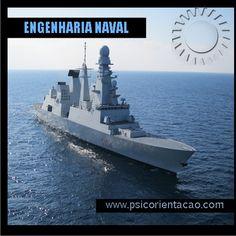 ENGENHARIA NAVAL – Projeto, construção, manutenção de embarcações e seus equipamentos.        Atuação:  Construção naval, gerenciamento de transporte, pesquisa e desenvolvimento, projeto de sistemas oceânicos