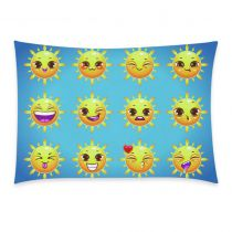 InterestPrint Cartoon Poop Emoji Smiley Face Emoticon Pillowcase Standard Size 20 x 30 Inches One Side - Emoji Emotions Summer Icons Sun Sticker Face Cotton Pillow Case Cover Set Pet Shams Decorative Emoticon, Emoji, Summer Icon, Smiley, Pillow Cases, Tapestry, Throw Pillows, Cartoon, Cotton Pillow