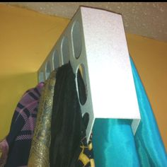 2nd view of scarf hanger created from old binder holder.