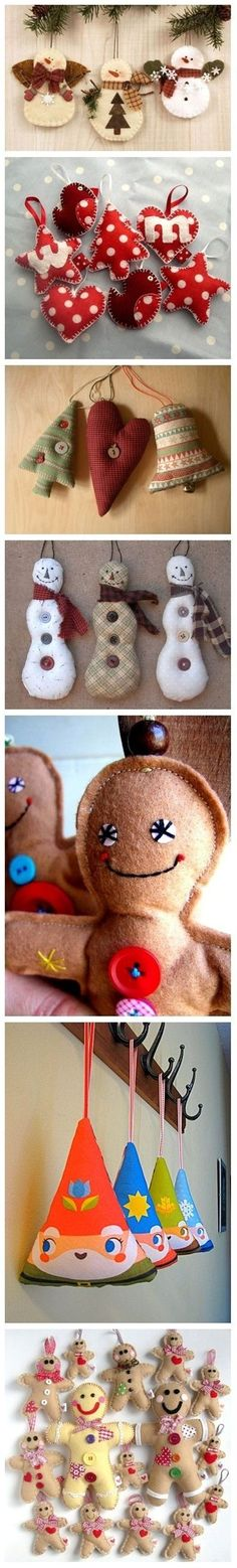 Christmas felt ornaments - Popular DIY & Crafts Pins on Pinterest