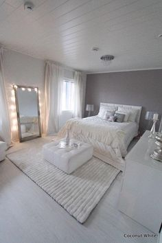 Bedroom decor inspiration gray bedroom ideas bedroom design decoration silver bedroom home bedroom and bedroom decor Room Decorations, Home Ideas Decoration, Decor Room, Wall Decor, Hone Decor Ideas, Wall Art, Wall Murals, Christmas Decorations, Dream Rooms