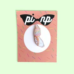 This soft enamel pin is 3.1cm x 1cm/ 1.2 inches x 0.39 inches in size.  Made in…