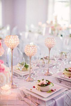 Pale pink and lavender.  – Pink Wedding Palette Inspiration