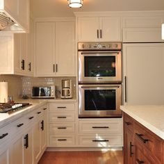 Cabinets and handles
