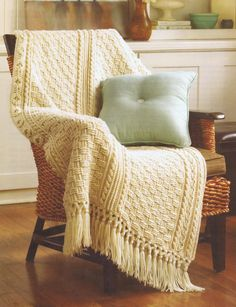 Afghan Crochet Pattern Aran Afghan Pattern Five Designs Leisure Arts 4948 - Images hosted at BiggerBids.com