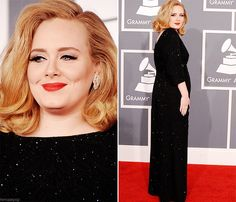 ADELE at the Grammys right now!!!