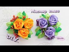 The Rose  for hair / DIY / Video Tutorial Kanzashi - YouTube