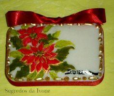SA20- Pintura em sabonete - motivos de Natal