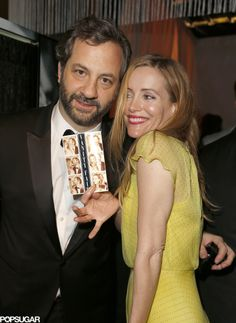 Judd Apatow and Leslie Mann showed off their photo-booth snaps.