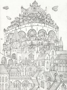 1000 Images About Landscape Colouring On Pinterest City Coloring Pages For Adults