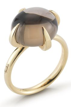 Vintage Pomellato Smoky Quartz Yellow Gold Ring by Vintage Malibu on Bijoux Design, Schmuck Design, Jewelry Design, Gems Jewelry, High Jewelry, Jewelery, Jewellery Box, Jewelry Stores, Smoky Quartz Ring