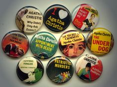 cute4cheap:   10 Agatha Christie Mystery Pins  $10 - My 52 Weeks With Agatha Christie