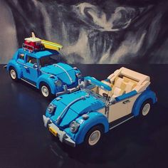 Built the new Lego Creator VW Beetle and modified another one as a two-tone interior & exterior convertible. Cool Lego, Cool Toys, Awesome Lego, Lego Toys, Lego Lego, Vw Accessories, Lego Boards, Lego Christmas, Cartoon Fan