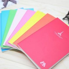 Korean Stationery cute candy colors eiffel tower print cover vintage diary notebook a5 kawaii panda notepad cheap wholesale Diary Book, Diary Notebook, Cute Stationary, Stationary Supplies, I Love School, School Stuff, Vintage Diary, Vintage Notebook, Korean Stationery