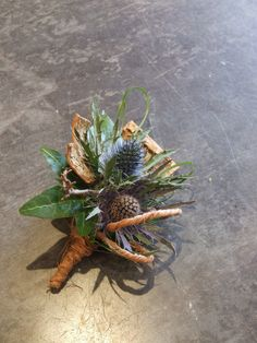 A Scottish Thistle with a twist! Sea Holly, Scottish Thistle, Corsages, Buttonholes