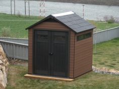 A Keter shed assembly Home Depot