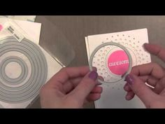 YouTube video by Jennifer McGuire Memory Box die-Large Circle Burst (98478) and glitter