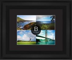 Bold Monogram Framed Print, Black, Classic, White, Black, Single piece, 11 x 14 inches, Black