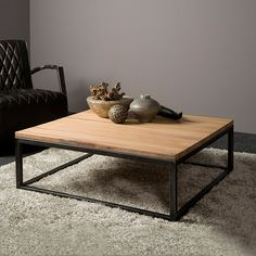 Tower Living Salontafel Max 100 x - Antique Coffee Tables, Cool Coffee Tables, Decorating Coffee Tables, Coffee Table Design, Coffee Table Pictures, Center Table Living Room, Coffee Table Dimensions, Adjustable Height Table, Dining Room Inspiration