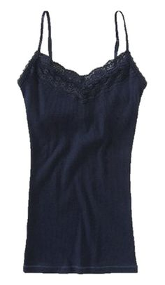 ddc440290c Amazon.com  Aeropostale Womens Lace Cami Tank with Shelf Bra X-Small Navy   Clothing