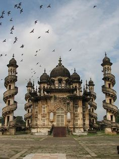 Mahabat (not Mohabbat) Maqbara Palace is a mausoleum in Junagadh, Gujarat, India. It is a Nawabs (Mughal Emperors) royal palace-mausoleum of Nawab Mahabat Khan II of Junagadh in the late century a mixture of Indo-Islamic and Gothic architecture. India Architecture, Gothic Architecture, Amazing Architecture, Amazing India, Amazing Pics, Beautiful Pictures, Taj Mahal, Places To Travel, Places To Go
