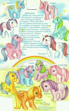 Early 80's backcard of My Little Pony packaging, featuring G1 ponies.  G;)