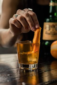 The black Manhattan cocktail is an amaro version of the classic with a more earthy herbal background. Delicious. Types Of Cocktails, Fall Cocktails, Good Whiskey, Whiskey Drinks, Manhattan Recipe, Spicy Bite, Manhattan Cocktail, Drink Tags, Orange Twist