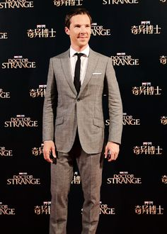 "benedictdaily: "" Benedict Cumberbatch attends the premiere of ""Doctor Strange"" on 16th October, 2016 in Shanghai, China (x) """