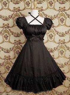 fashion elegant clothes clothing pretty beautiful cute goth gothic lolita dress