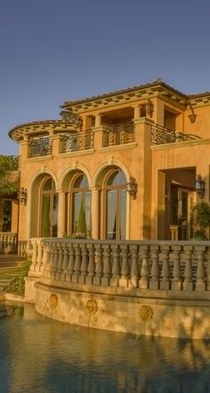 arched windows ~ Mediterranean architecture