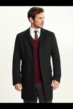Mens sweater and trench coat from banana republic