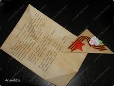 Мастер-класс Открытка День Победы Аппликация Открытка Фронтовой треугольник к 9 мая + МК Бумага фото 2