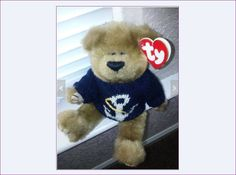 1993 TY Jointed Bear, Old Salty, Navy, Military, Marines, Toys, Knitted Sweater, Anchor, Bears, Teddy Bear, Teddy Bears, Naval by BackStageVintageShop on Etsy