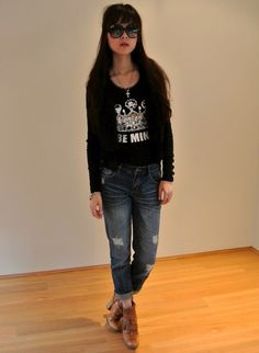 "♥  ""BE MINE. "" http://www.whatiwear.com/look/detail/129102   #theforestelf #winter #dress #motelrocks #leather #sportsgirl #chanel #blog #fashion #outfit #ootd #style #inspiration #beanie #zara #boots #winter #black #white"