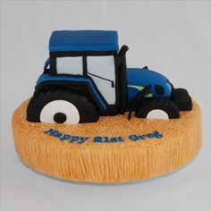 new holland tractor cake - Recherche Google Tractor Birthday, Farm Birthday, Birthday Cake, Tractor Cookies, Beetroot Chocolate Cake, Farm Cake, New Holland Tractor, Sweet Bakery, Cakes For Boys