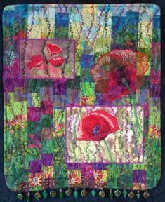Fiber Art Quilts-Florals Eileen Williams
