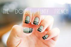 Une-deux senses: Manicure Mondays: The Double Funky French