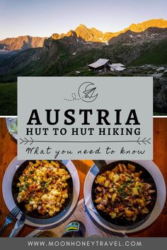 Everything you need to know about hiking hut to hut in the Austrian Alps. Find out how to pick the right trail, how to reserve mountain huts, when to hike hut to hut, basic hut etiquette, why you should join the Austrian Alpine Club and so much more. #austria #hiking #trekking #huttohut #huttohuthiking #alps Austria Travel, France Travel, Germany Travel, Italy Travel, Hiking Europe, Travel Around Europe, Hiking Food, Hiking Trails, Austrian Cuisine
