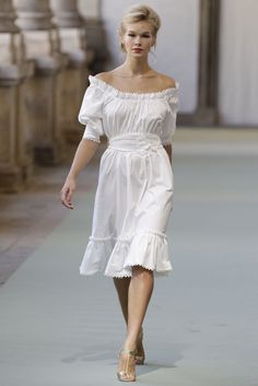 So Sophia Loren - Luisa Beccaria Spring 2012. can make in colors but how to not look like a waitress in a Mexican restaruant? Jewelry, watch, bracelet, loose wavy/curly hair, heels...