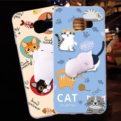Squishy Cat Collecion Protective TPU Phone Case For Samsung galaxy A5 2016 A510 A5 2017  Price: 7.37 & FREE Shipping  #pets #dog #doglovergifts