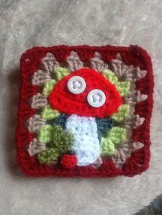 Toadstool square. Crochet mood blanket 2014
