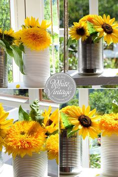 """Wie ihr aus einem alten Holzbrett eine herbstliche Dekoration für euer Fenster zaubert, zeige ich euch mit diesem schnellen und einfachen DIY: """"DIY eine Blumenschaukel für meine Sonnenblumen"""" Die Anleitung zu diesem Dekotipp findet iht auf dem Blog White and Vintage: http://www.whiteandvintage.com/2016/10/diy-blumenschaukel-fur-meine.html"""