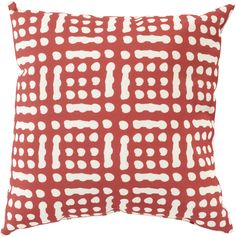 "Mizu 18"" Outdoor Pillow in Beige & Burgundy design by Surya"