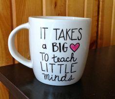 Teacher Coffee Mug  It Takes A Big Heart To Teach by Hinzpirations