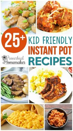 Kid Friendly Instant Pot Recipes Want a win for dinner tonight? Save time while making the kids happy with these kid friendly Instant Pot Recipes! Cooking With Kids Easy, Kids Cooking Recipes, Healthy Cooking, Kids Meals, Healthy Eating, Cooking Bacon, Healthy Kids, Family Meals, Healthy Snacks