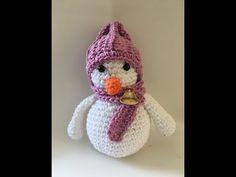 Boneco de neve em amigurumi YouTube