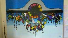 (VENDIDA) Avião Acrílica - tela 90X70 arte - art